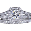 1.13 ct. Cushion Cut Bridal Set Ring, G-H, SI1-SI2 #3