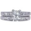 1.11 ct. Princess Cut Bridal Set Ring, I, SI2 #3