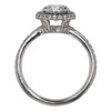 1.01 ct. Round Cut Halo Ring, D, SI2 #4