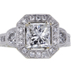 2.00 ct. Princess Cut Halo Ring, G, I1 #1