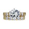 1.49 ct. Round Cut Bridal Set Ring, L, I1 #3