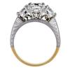 0.91 ct. Round Cut Bridal Set Ring, F, VS1 #3
