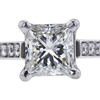 0.92 ct. Princess Cut Solitaire Ring, I, SI1 #2