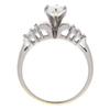 0.83 ct. Pear Cut Bridal Set Ring, E, VS2 #4