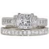 1.1 ct. Princess Cut Bridal Set Ring, E, VS1 #3