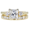 1.04 ct. Princess Cut Bridal Set Ring, H, VS1 #3
