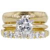 0.95 ct. Round Cut Bridal Set Ring, I-J, VS1 #1