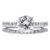 1.12 ct. Round Cut Bridal Set Ring, J, VS2 #3