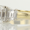 1.09 ct. Emerald Cut 3 Stone Ring #2