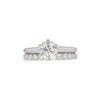 1.04 ct. Round Cut Bridal Set Ring, M, VS2 #4