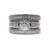 1.05 ct. Round Cut Bridal Set Ring, J-K, SI2-I1 #2