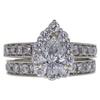 0.79 ct. Pear Cut Bridal Set Ring, D, SI2 #3