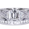 1.04 ct. Emerald Cut Bridal Set Ring #3