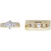 1.03 ct. Round Cut Bridal Set Ring, F, I1 #3