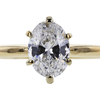 1.02 ct. Oval Cut Bridal Set Ring #4