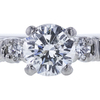 0.97 ct. Round Cut Bridal Set Ring, G, I2 #4