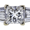 1.04 ct. Princess Cut Solitaire Ring, G, VS1 #1