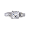 1.74 ct. Princess Cut Solitaire Ring, F, SI1 #3
