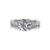 1.54 ct. Round Cut Bridal Set Ring, G, SI2 #3