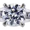 1.30 ct. Round Cut Bridal Set Ring, E, I1 #4