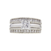 0.95 ct. Princess Cut Bridal Set Ring, F-G, VS1 #2