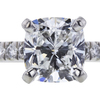 1.70 ct. Cushion Cut Bridal Set Ring, G, VVS2 #4