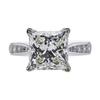 4.12 ct. Princess Cut Solitaire Ring, I, VS1 #2