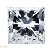 1.56 ct. Princess Cut Stud Earrings, H, SI1 #1