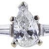 0.81 ct. Pear Cut Solitaire Ring, F, SI2 #4