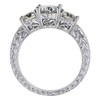 1.00 ct. Round Cut 3 Stone Ring, J, SI2 #2