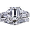 2.15 ct. Emerald Cut Bridal Set Ring, F, VS2 #2