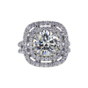 3.05 ct. Round Cut Halo Ring, M, I2 #3