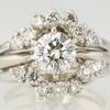 0.98 ct. Round Cut Bridal Set Ring #1