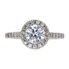 1.01 ct. Round Cut Halo Ring, H, SI2 #3