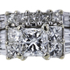 1.20 ct. Princess Cut Bridal Set Ring #4