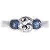 0.91 ct. Round Cut 3 Stone Ring, G, SI1 #3