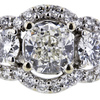 1.51 ct. Cushion Cut 3 Stone Ring #4
