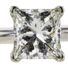 2.02 ct. Princess Cut Solitaire Ring, K, VS1 #4