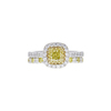 0.73 ct. Cushion Cut Bridal Set Ring, Fancy, VS2 #3