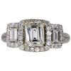 1.1 ct. Emerald Cut Halo Ring, K, VS1 #3