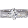 0.91 ct. Princess Cut Bridal Set Ring, H, VS2 #3