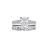 1.54 ct. Radiant Cut Bridal Set Ring, H, VVS2 #3