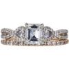0.96 ct. Emerald Cut Bridal Set Ring, G, VVS2 #3