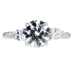 Antique GIA 1.49 ct. Circular Brilliant Cut Bridal Set Ring, F, SI1 #4