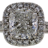 2.71 ct. Cushion Cut Halo Ring #1