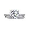 2.01 ct. Round Cut Bridal Set Ring, J, SI2 #4