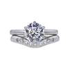 1.61 ct. Round Cut Bridal Set Ring, E, VS1 #3