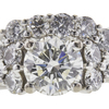 1.28 ct. Round Cut Central Cluster Ring, J, SI1 #4