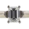 1.00 ct. Emerald Cut Bridal Set Ring, I, VS2 #4