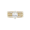 1.23 ct. Oval Cut Bridal Set Ring, J, SI1 #3